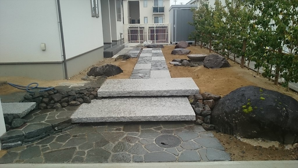 宮城・仙台の庭づくり泉伊藤造園   施工事例_門回り